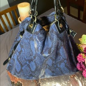 Mark Fisher Blue And black tote